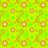 Scrapvel bloemen groen met oranje