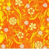 Scrapvel bloemen oranje