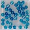 Glaskraal blauw 4mm