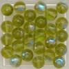 Glaskraal olijfgroen 6mm