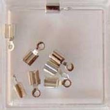 Koordstopper klein zilverkleurig