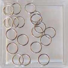 Ringen 8mm single split zilverkleurig