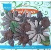Paper flowers mix Brown