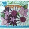 Paper flowers mix Purple