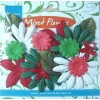 Paper flowers mix Christmas