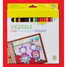 Doos met 24 coloursoft kleurpotloden