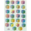 Knipvel alfabet kubussen