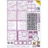 Knipvel CardScrap mini book roze