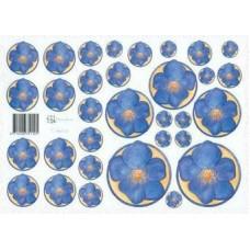 Knipvel Marjoleine cirkels violen blauw