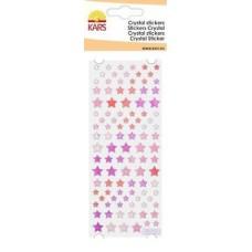 Crystal stickers sterren roze