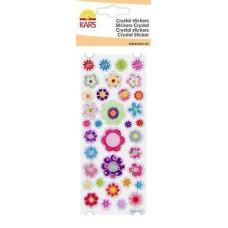 Crystal stickers bloemen