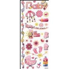 Stickers baby roze