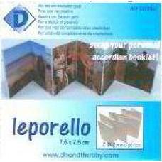 Leporello album 7.5 x 7.5cm