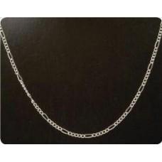 Bijoux ketting 11 figaro zilverkleur