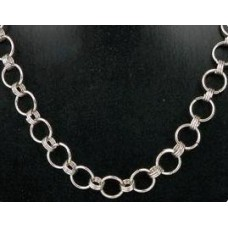 Bijoux ketting 2 zilverkleur