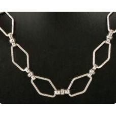 Bijoux ketting 3 zilverkleur