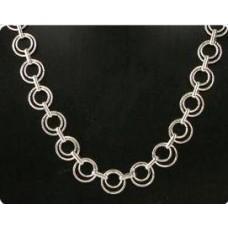 Bijoux ketting 5 zilverkleur