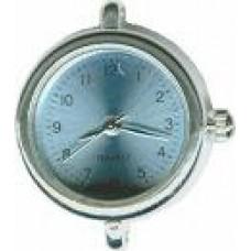 Horloge rond blauw