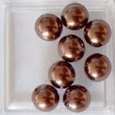 Bruine parel 8mm