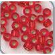 Rocaille zilver kern rood