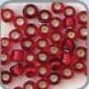 Rocaille zilver kern donker rood