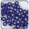 Rocaille zilver kern blauw