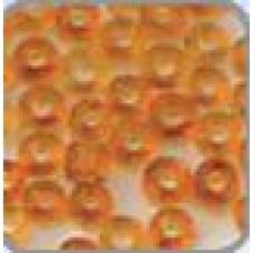 Rocaille transparant licht oranje