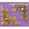Embellishment hoekornament bloem en blad