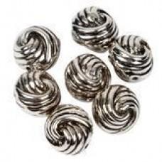 Metallook kraal knoop