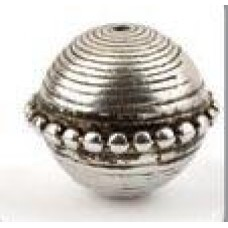 Metallook kraal ronde disc groot