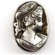 Metallook kraal ovaal klassieke vrouw