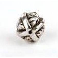 Metallook kraal ronde bal
