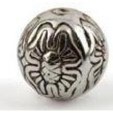 Metallook kraal ronde bal met bloem