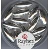 Rayher zilverkralen rijstekorrel 14 x 6mm