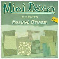Mini Deco papierblok Forrest Green