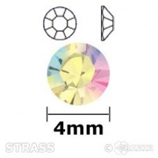 Strass chrystal AB 4mm