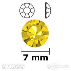 Strass geel 7mm
