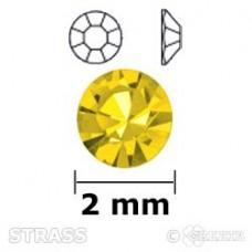 Strass geel 2mm