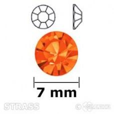 Strass oranje 7mm
