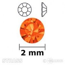 Strass oranje 2mm