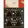 3D ministencil driehoeken feestdagen