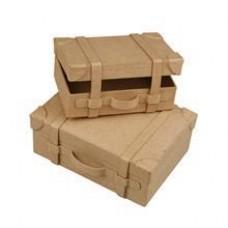 Kofferset vintage papiermaché