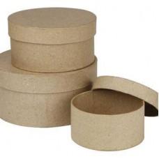 Ronde dozen set papier maché