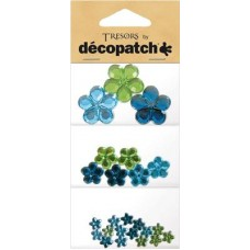 Tresors bloemen blauw/groen
