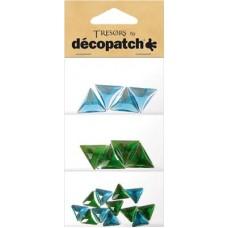 Tresors driehoekjes blauw/groen