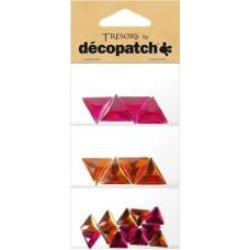 Tresors driehoekjes roze/rood