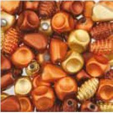 Assortie Acrylkralen 2 oranje/geel