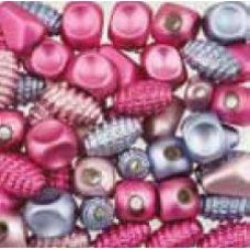 Assortie Acrylkralen 2 roze/paars