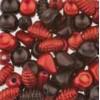 Assortie Acrylkralen 2 rood/donkerrood