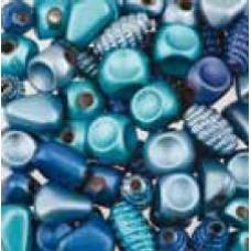 Assortie Acrylkralen 2 blauw